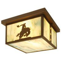 8 Seconds Bucking Bronco Ceiling Light