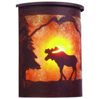 Timber Ridge Moose Dark Sky Sconce