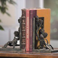 Pine Cone Book Ends
