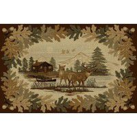 Oakwood Deer Area Rugs