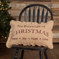 The Blessings of Christmas Pillow 14 x 22