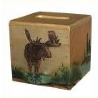 Moose Square Tissue Box Cover