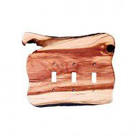 Rustic Triple Toggle Switch Plate (3 wood options)