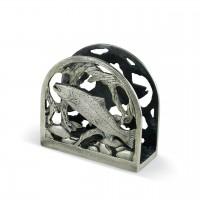 Trout Metal Napkin Holder