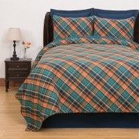 Troy Plaid Quilt Set