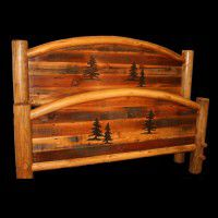 Pine Trio Arched Barn Wood Beds