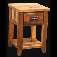 Old Barn Twig Nightstand with Drawer and Shelf