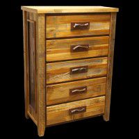 Old Barn Twig Chest - Five Drawer
