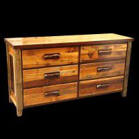 Old Barn Twig Chest - Six Drawer