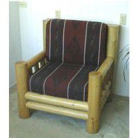 Lodge Pole Pine Log Armchair