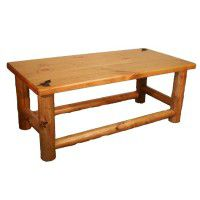 Lodge Pole Pine Log Coffee Table