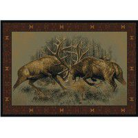 Fight for Dominance Elk Rugs -DISCONTINUED