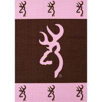Pink Buckmark Area Rugs