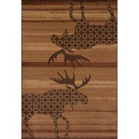 Toffee Urban Moose Area Rugs