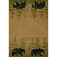 Wooded Bear Area Rugs
