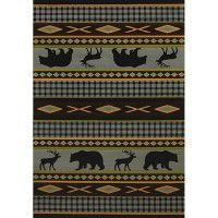 Manitou Blue Bear Area Rugs