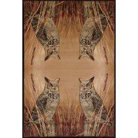 Millette's Horned Owl Area Rugs