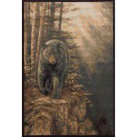 Rocky Outcrop Bear Area Rugs