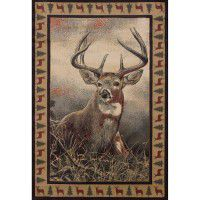 Majestic Whitetail Deer Area Rugs