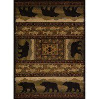Black Bear Parade Area Rugs