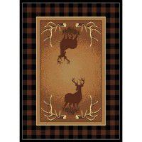 Antler Buck Deer Area Rug