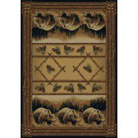 Grizzly Pines Bear Rug