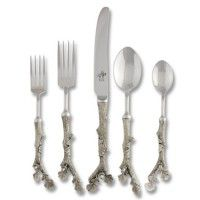 Pewter Acorn Flatware