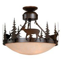 Bryce Deer Semi-Flush Ceiling Light