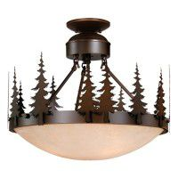 Yosemite Pine Tree Semi-Flush Ceiling Light