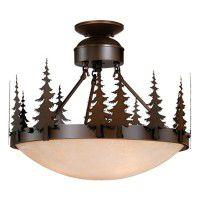 Yosemite Pine Tree Semi-Flush Ceiling Light