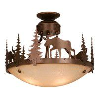 Yellowstone Moose Semi-Flush Ceiling Light