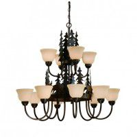 Bryce Whitetail Deer 12 Light Chandelier