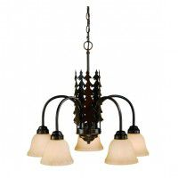 Yosemite 5 Light Pine Tree Chandelier