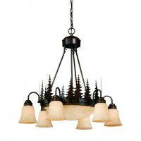 Yosemite Pine Tree Inverted Bowl Chandelier