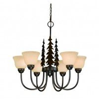 Yosemite Pine Tree 6 Light Chandelier