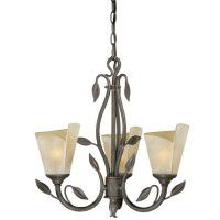 Capri Leaf 3 Light Chandelier