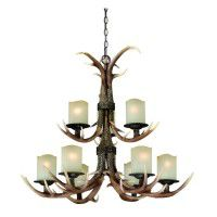 Yoho Faux Antler 9 Light Chandelier