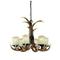 Yoho Faux Antler 6 Light Chandelier