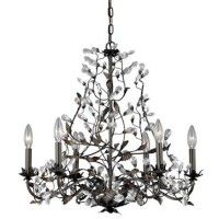 Crystal Trellis 6 Light Chandelier