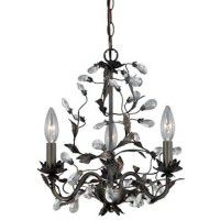 Crystal Trellis 3 Light Chandelier