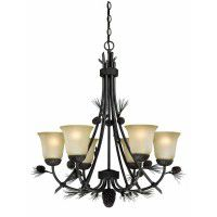 Sierra 6 Light Pine Cone Chandelier