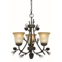 Sierra 3 Light Pine Cone Chandelier