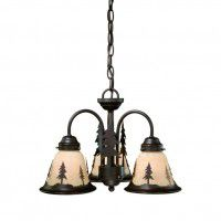 Yosemite Pine Tree 3 Light Chandelier/Light Kit