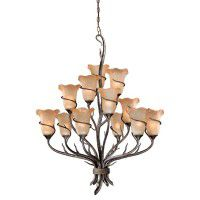 Monterey Umber 12 Light Chandelier