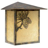 Whitebark Exterior Pine Cone Sconce - Discontinued