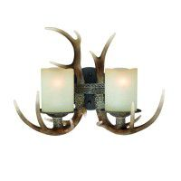Yoho Faux Antler Double Wall Light