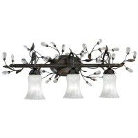 Crystal Trellis Triple Vanity Light
