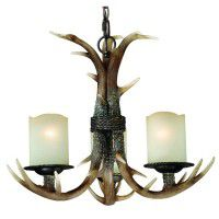 Yoho Faux Antler 3 Light Chandelier