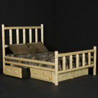 Alpine Log Bed w/Drawers