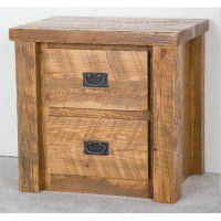 Northwoods Barnwood 2 Drawer Nightstand